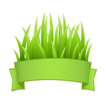 hedges: Grass Set, Isolated On White Background, Vector Illustration