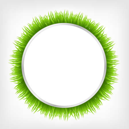 Circle With Grass, Vector Illustration Stock Vector - 9329062