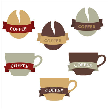 Coffee Elements For Design, Isolated On White Background, Vector Illustration Vector