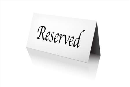 reserved: Reserved Sign, Isolated On White Background, Vector Illustration