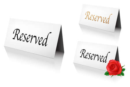 reservation: 3 Reserved Sign, Isolated On White Background, Vector Illustration Illustration