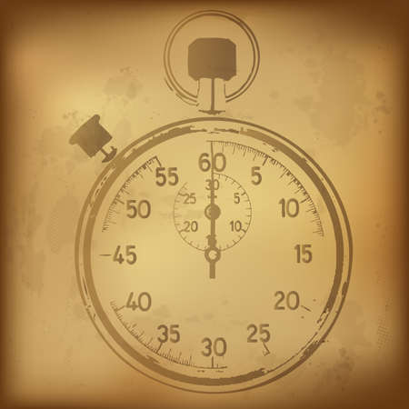 old timer: Antique Stopwatch, Vector Illustration Illustration