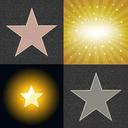4 Estrellas Ilustración de vector