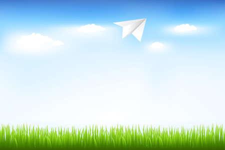 ciel: Ciel bleu et papier Plane