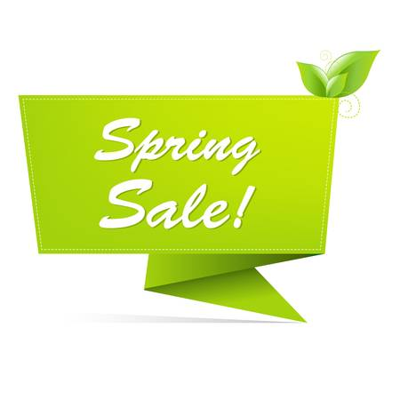 Sale Spring Banner, Isolated On White Background Vector
