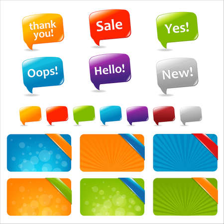 yes communication: Web Text Boxes And Speech Bubbles, Isolated On White Background