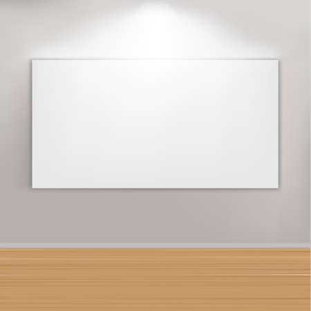 Empty Paintings Frame On Wall Stock Vector - 9453108