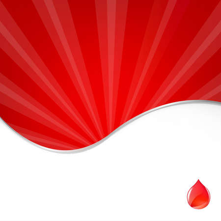 ridicolo: Medical Background With Blood Drop, Illustration