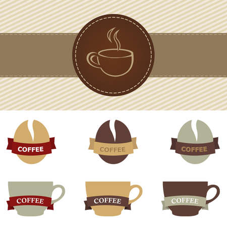 coffee set, isolated on white background, vector illustration Stock Vector - 9571997