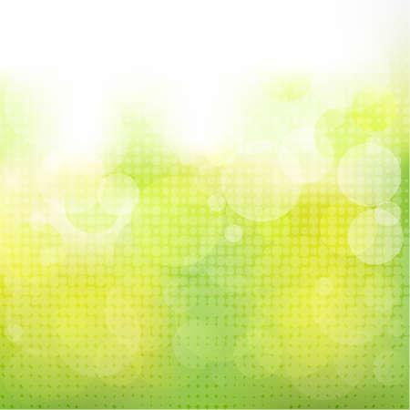 prato e cielo: Sfondo verde naturale con Boke, illustrazione vettoriale