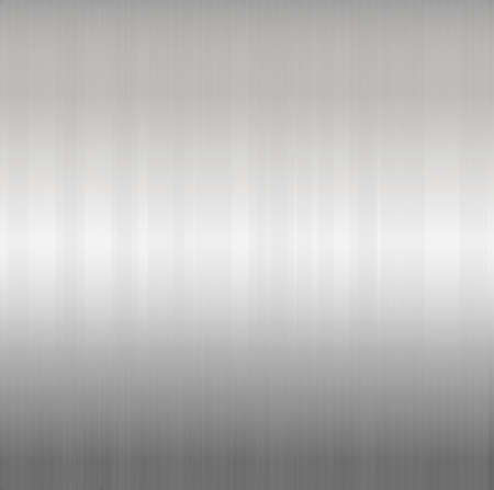 silvery: Brushed Silver Metallic Background, Vector Illustration
