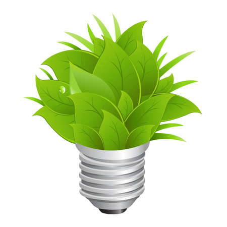 overuse: Eco Energy Concept, Ecology Bulb Illustration