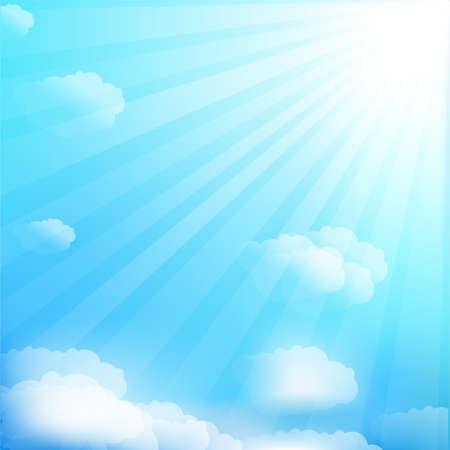 ciel: Ciel et les nuages Illustration