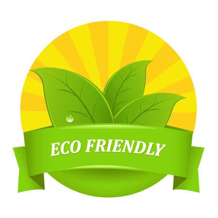 environmental friendly: Eco Friendly Icon Illustration