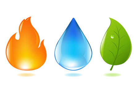 plantes aquatiques: ?l?ments Design Collection Eco Illustration