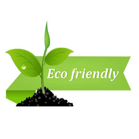 icono ecologico: Banner de medio ambiente Vectores