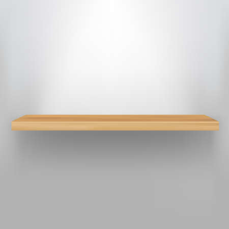 Empty Wood Shelf