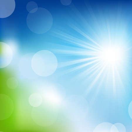 sol radiante: Fondo de naturaleza Vectores