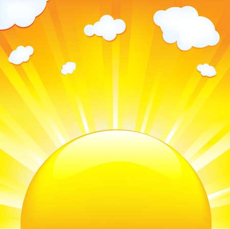 Sun With Beams Vector