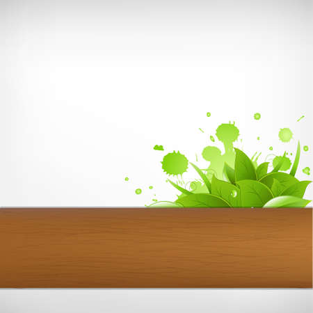 Eco Wood Background, Vector Illustration  Stock Vector - 9883939
