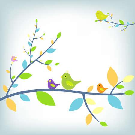 Fantastic Birds, Vector Illustration   Vector