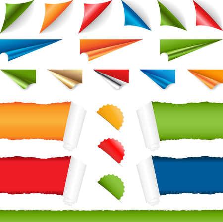 Corners Stel, op een witte achtergrond Vector Illustratie