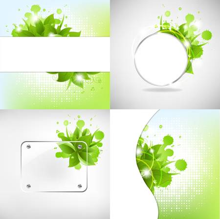 Abstract Backgrounds With Blots Stock Vector - 10136081