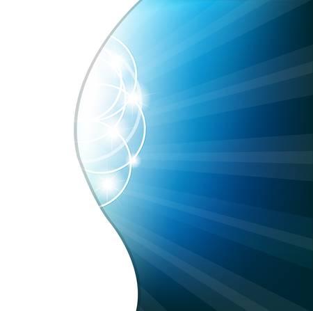 noche estrellada: Fondo azul abstracto