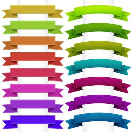 premio cinta: Colecci�n de cintas, aislada sobre fondo blanco