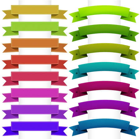 Ribbons Collection, Isolated On White Background