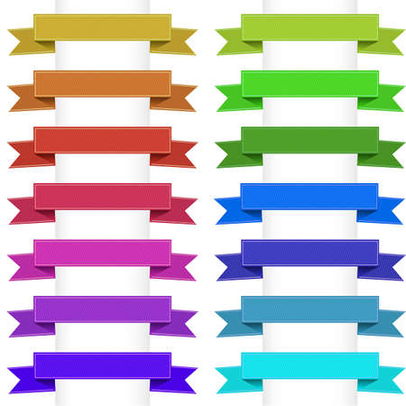 Ribbons Collection, Isolated On White Background. Vector