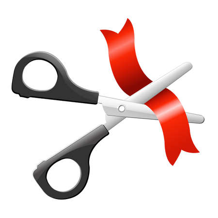 Scissors, Isolated On White Background, Vector Illustration Vector