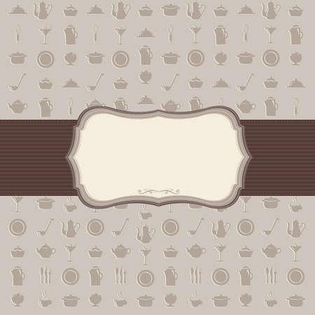 dessert fork: Vintage Kitchen Background