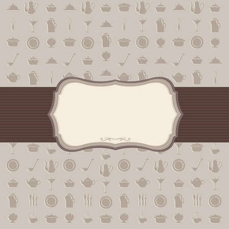 spoon and fork: Vintage Kitchen Background