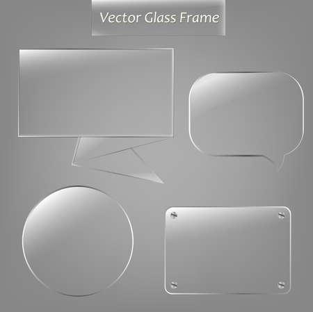 4 Glas Framework. Vector Illustratie
