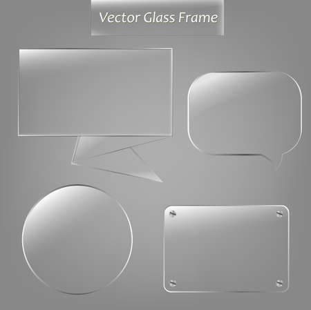 4 Glass Framework. Stock Vector - 10482981