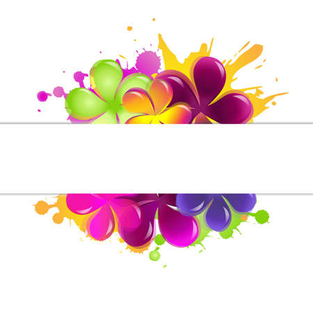 flores vintage: Abstract Flowers, Isolated On White Background, Vector Illustration Illustration