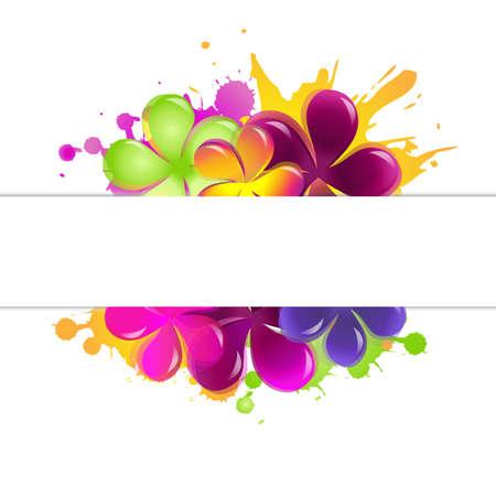 rahmen: Abstrakte Blumen, Isoliert Auf Weißem Hintergrund, Vektor-Illustration