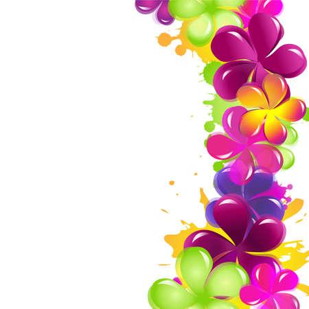 verschnörkelt: Abstrakte Blumen, Isoliert Auf Weißem Hintergrund Illustration