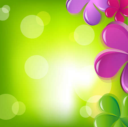 Flowers And Bokeh, Vector Illustration Vector