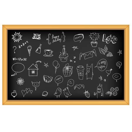 lavagna: Consiglio scolastico con mano disegnato, isolata su sfondo bianco