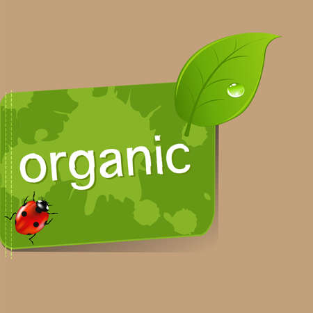 Organic Label. Vector
