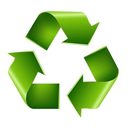 renewable: Recycle Symbol, Isolated On White Background. Illustration
