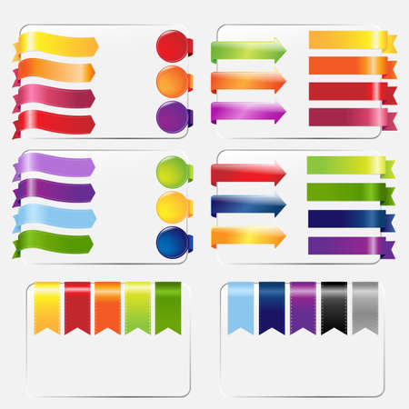 Web Ribbons Set, Isolated On White Background. Vector