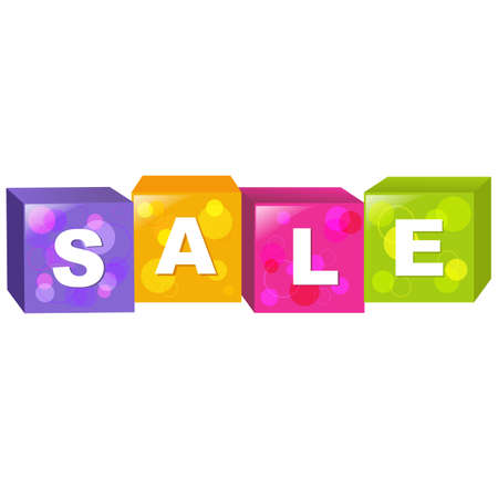 Sale Cube, Isolated On White Background. Stock Vector - 10723885