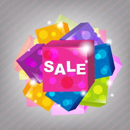 Bright Sale Poster, Vector Illustration Stock Vector - 10784851