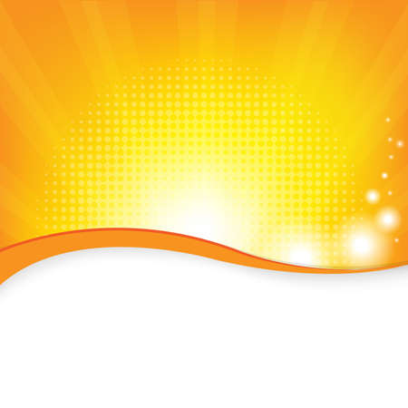 Orange Background, Vector Illustration Illustration