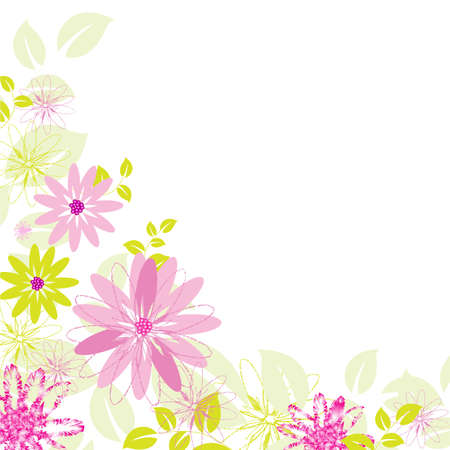 Abstract Flower Background, Isolated On White Background Stock Vector - 10854901