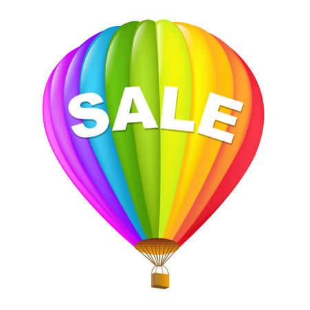 luftschiff: Colorful Sale Hot Air Balloons Illustration