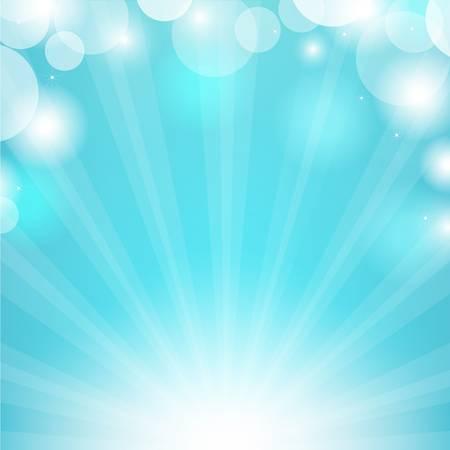 Blue Bubbles Sunburst Vector
